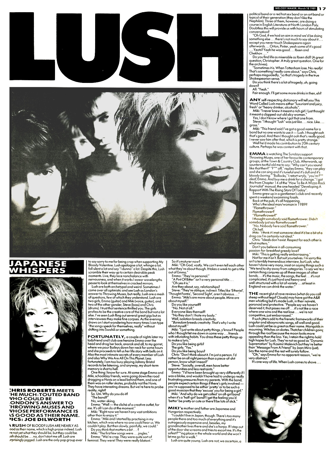 LUSH Remembered - Feature Articles